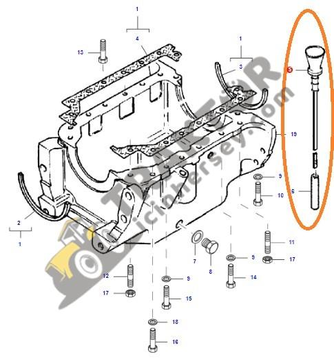 Karter Yağ Çubuğu Massey Ferguson 240 (Hindistan) – 240S (Hindistan) – 2615 – 2620 – 2630 – 2635 Orjinal OC150720180455