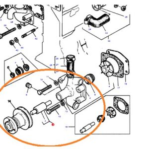 Devirdaim (Su Pompası) Komple Massey Ferguson 35 – 35X Orjinal Kalitesinde OC08062018193712