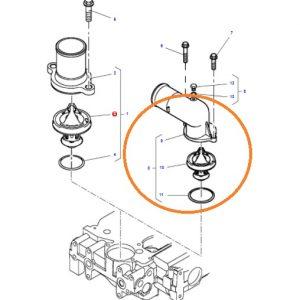 Termostat Komplesi Yandan (Eğri) Massey Ferguson 5410 – 5420 – 5425 – 5430 – 5435 – 5440 – 5445 – 5450 – 5455 – 6445 – 6455 Orjinal OC110720181736