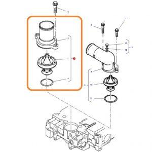 Termostat Komple Massey Ferguson 5425 – 5435 – 5445 – 5455 – 6445 – 6455 – 6460 – 6470 Orjinal OC110720181715