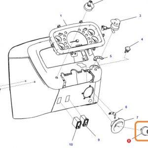 Kontak Anahtarı Massey Ferguson Yeni Model 240 (Hindistan) – 240S (Hindistan) – 2615 – 2615GE – 2620 – 2620 XTRA Orjinal OC040720180400