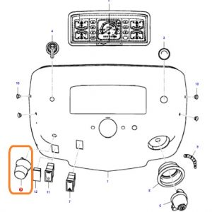 Kornalı Far Anahtarı Massey Ferguson Yeni Model 240 (Hindistan) – 240S (Hindistan) – 2615GE – 2615 – 2620GE – 2620XTRA – 2625GE – 2630F – 2630GE – 2630 – 2635 Orjinal OC040720180435