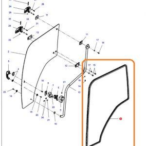 Kapı Cam Contası Sağ – Sol Massey Ferguson 4707 – 4708 – 4709 – 5709 – 5710 – 5711 – 6711 – 6712 – 6713 Orjinal  OC040720182013