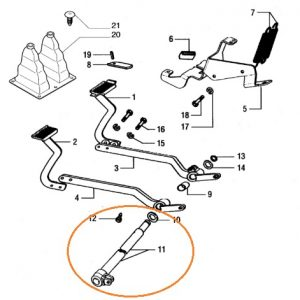 Fren Pedal Mili New Holland TD75D  –  TD65D  –  TD70D  –  TD55D  –  TD80D  –  TD85D  –  TD90D  –  TD95D OC051020182010