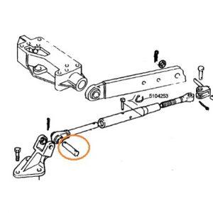 Gergi Kolu Bağlantı Pimi 19mm en ve 105mm boy düz Fiat 70-66 – 80-66 Yerli İmalat OC301220181623