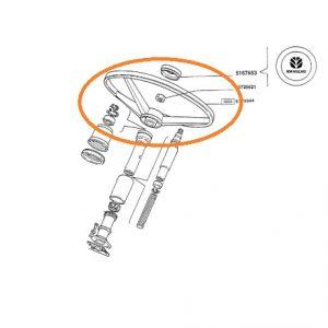 Direksiyon Simidi Frezeli Montaj Tip Fiat New Holland 65.46 – 80.66 – 110.90 – TD Serileri Orjinal Muadili OC141020181112