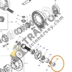 Ayna Mahruti Ayar Somunu Yeni Model 532956M1 Massey Ferguson 240 – 240S – 2615 – 2620 – 2625 – 2630 – 2635 – 265 – 265S – 275 – 285 – 285S Yerli İmalat TIH000001150