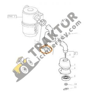 Hava Filtre Toz Emiş Lastiği New Holland 480 – 640 – 54C – 55-56 – 60-56 – 70-56 – TD75D – TD85D – TD95D – TL100 Ekonomi TIH000001098