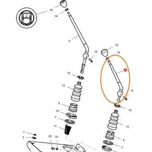 Vites Kolu (L-H) 8×2 Sabit Vitesli Şanzıman İçin Massey Ferguson 240 (Hindistan) – 240S (Hindistan) – 2615 – 2615GE Orjinal OC141220181912