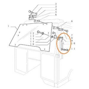 Ön Cam Amortisörü 586mm New Holland TL70 – TL80 – TL90 – TL100 – TM115 – TM120 – TM125 – TM130 – 35 Serisi – 60 Serisi Orjinal OC171120181745