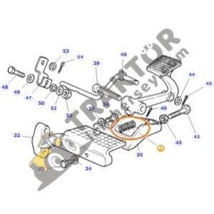 Ayak Gaz Yayı İnce 20,5x61mm Massey Ferguson 240 – 240S TIH000001190