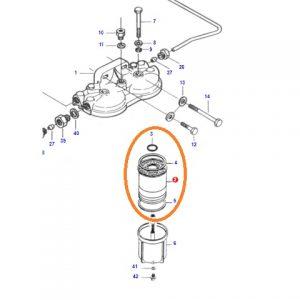 Yakıt Filtresi Valtra A75 – A85 – A95 6000 – 8000 Serisi Orjinal OC090820181831