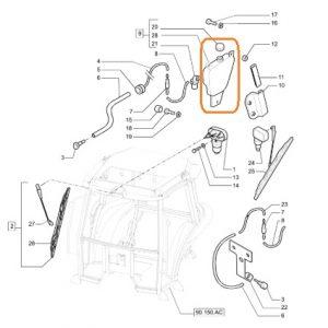 Cam Silecek Su Deposu – Çift Çıkış Motorlu New Holland  OC240820180914