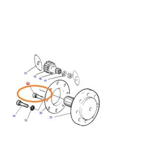 Arka Teker Bijonu Massey Ferguson 398 – 3075 – 3085 – 3095 – 3105 Orjinal Muadili OC270620180557