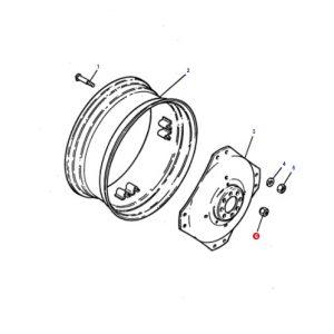 Arka Teker Bijon Somunu Massey Ferguson 398 – 3075 – 3085 – 3095 – 3105 Orjinal Muadili OC25062018123914