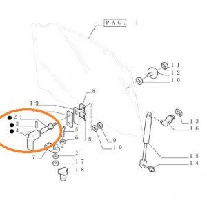 Arka Cam Kilit Tutamağı New Holland TN Serisi – T4030F – T4040F – T4050F Orjinal OC230820181940