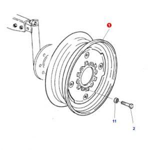 Ön Teker Jantı Ford 3000 – 3600 Modelleri İçin 4.50×16 Jantsa OC0605201812361