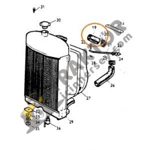 Radyatör Üst Eğri Hortum İç Çap 38mm Massey Ferguson 35X – 135 Ekonomi OC110820191819