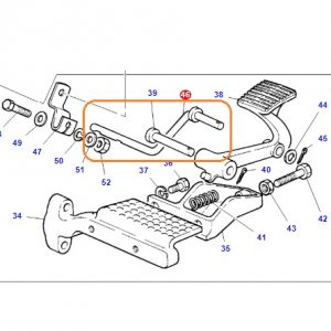 Ayak Gaz Pedal (Z) Destek Çubuğu Massey Ferguson 135 -240 – 240S OC220720181548