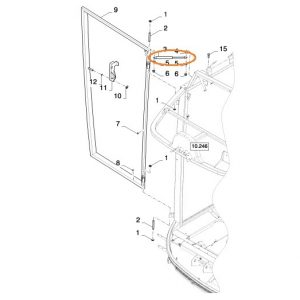 Kabin Kapı Amortisörü New Holland TC56 Orjinal OC181120180614
