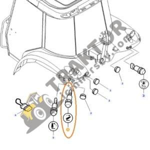 Hidrolik İndirme Düğmesi -Çamurluk Üstü Anahtar- Massey Ferguson Orjinal TIH000001254