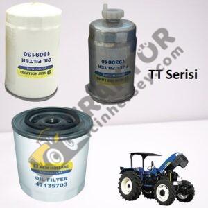 TT Serisi Filtre Bakım Kiti (Mazot Filtresi – Yağ Filtresi – Hidrolik Filtre) New Holland Orjinal TIH000001333