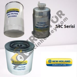 Filtre Bakım Seti 3 Silindir Turbosuz New Holland 54C Serisi – 60 C – TD65D – 56 SERİSİ – TD75D – TD85D Orjinal TIH000001334
