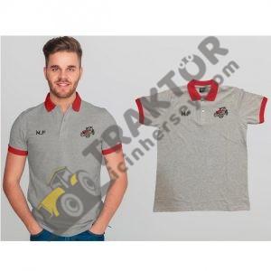 Özel Koleksiyon Tshirtler Massey Ferguson Gri – Kırmızı