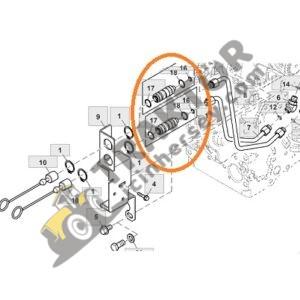 Hidrolik Damper Adaptörü Mutlu John Deere 5050E, 5055E, 5065E, 5083E, 5093E, 5303, 5403, 5503, 5425, 5615, 5625, 5715, 5725, 6100D, 6125D, 6140D TIH000001169