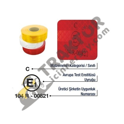 Reflektör Şerit Bant Kırmızı – Römork Ve Ekipmanlar İçin OC090520181437