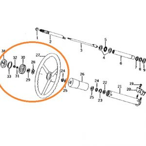 Direksiyon Simidi Kapaklı John Deere 1030 – 1130 – 2030 – 2130 OC131020181822