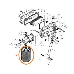 Yağ Filtresi Massey Ferguson 8470 – 8480 Orjinal OC110720181903